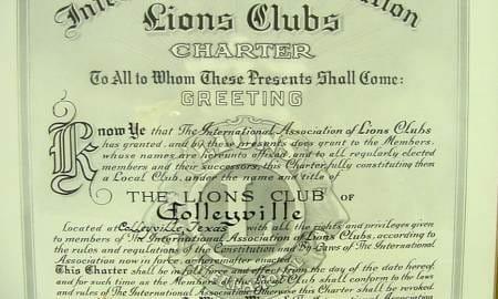Lions Original Charter, June 1, 1982